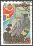 Stamps Russia -  Cooperación espacial con Rumania