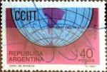 Stamps : America : Argentina :  Intercambio nfb 0,25 usd 40 peso 1968