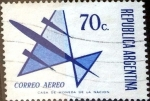 Sellos de America - Argentina -  Intercambio 0,50 usd 70 cent. 1973