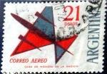 Stamps : America : Argentina :  Intercambio nfb 0,55 usd 21 pesos. 1963