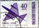 Stamps Argentina -  Intercambio 0,30 usd 40 pesos. 1969