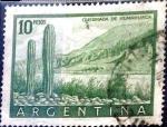 Sellos de America - Argentina -  Intercambio 0,80 usd 10 pesos 1955