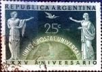 Sellos del Mundo : America : Argentina : Intercambio daxc 0,20 usd 25 cent. 1949