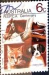 Stamps Australia -  Intercambio crxf2 0,20 usd 6 cent. 1971