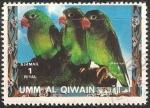 Sellos de Asia - Emiratos Árabes Unidos -  Pajaros exoticos loros