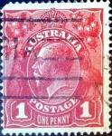 Stamps Australia -  Intercambio 1,50 usd 1 p. 1914