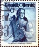 Stamps : Europe : Austria :  Intercambio 0,20 usd 10 g. 1948