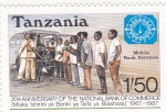 Sellos de Africa - Tanzania -  20aniversario banco nacional de comercio
