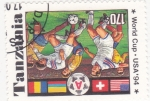 Stamps Tanzania -  copa mundial de futbol USA-94