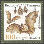 Sellos de Europa - Alemania -  Bedrohte tierarten- murcielago