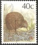 Sellos de Oceania - Polynesia -  Brown kiwi-Kiwi marron