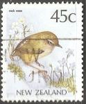 Sellos del Mundo : Oceania : Nueva_Zelanda : rock wren