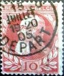 Sellos de Europa - Bélgica -  Intercambio 0,60 usd 10 cent. 1905