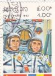 Stamps : Asia : Laos :  aeronautica- colaboración espacial