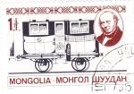 Sellos de Asia - Mongolia -  vagón