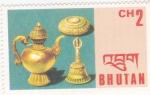 Sellos de Asia - Bhután -  artesanía