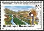 Sellos de Africa - Rwanda -  Swamp drainage
