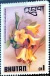 Stamps : Asia : Bhutan :  Intercambio 0,20 usd 1 ch. 1976