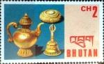Stamps : Asia : Bhutan :  Intercambio aexa 0,30 usd 2 ch. 1975