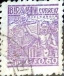 Stamps : America : Brazil :  Intercambio 0,20 usd 60 cent. 1947