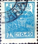 Stamps : America : Brazil :  Intercambio 0,20 usd 40 cent. 1947