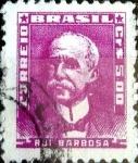Sellos de America - Brasil -  Intercambio 0,20 usd 5 cruceiros 1956