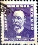 Stamps : America : Brazil :  Intercambio 0,20 usd 0,50 cruceiros 1954