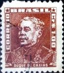 Stamps : America : Brazil :  Intercambio 0,20 usd 1,00 cruceiros 1954