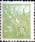 Sellos de America - Brasil -  Intercambio 0,20 usd 2 cent. 1947