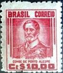 Stamps : America : Brazil :  Intercambio 10,00 usd 10 cruceiros 1947