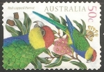 Sellos del Mundo : Oceania : Australia : Red capped parrot