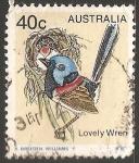 Sellos de Oceania - Australia -  lovely wren