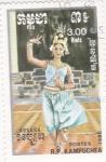 Sellos del Mundo : Asia : Camboya : bailarina