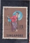 Stamps Singapore -  bailarina