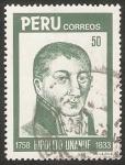 Stamps Peru -  Hipólito Unanue