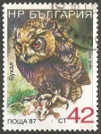 Stamps Bulgaria -  Bubo bubo- búho real