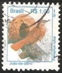 Sellos de America - Brasil -  Furnarius rufus-hornero común