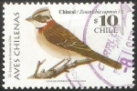 Stamps Chile -  Aves chilenas-chincol-chingolo