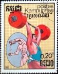 Stamps : Asia : Cambodia :  Intercambio 0,20 usd 0,20 riel 1987