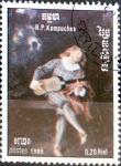 Stamps : Asia : Cambodia :  Intercambio 0,20 usd 0,20 riel 1985
