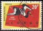 Sellos de Africa - República del Congo -  Jabiru d'afrique-cigüeña blanca