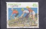 Sellos de Oceania - Australia -  cicling