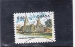 Sellos de Africa - Ghana -  mezquita de Larabanga