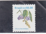 Stamps Brazil -  flores- clitoria
