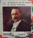Stamps : America : Mexico :  50 aniv. de la muerte de Alvaro Obregon