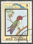 Sellos del Mundo : America : Cuba : Aves de cuba-mellisuga helenae-colibríes
