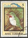 Sellos de America - Cuba -  Aves cubanas-todus multicolor