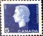 Stamps Canada -  Intercambio 0,20 usd 5 cent. 1963