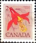 Stamps Canada -  Intercambio 0,20 usd 2 cent. 1977