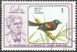 Sellos de America - Cuba -  90 aniversario muerte Juan C.Gundlach-Mayito de la cinaga